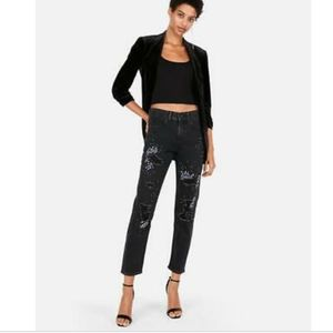 NWT Express Vintage High Rise jeans with crestals